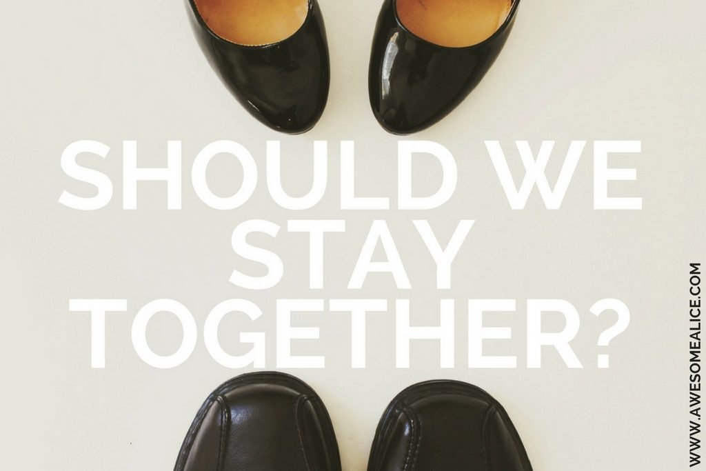 Should we stay together. Click here to take the free relationship quiz