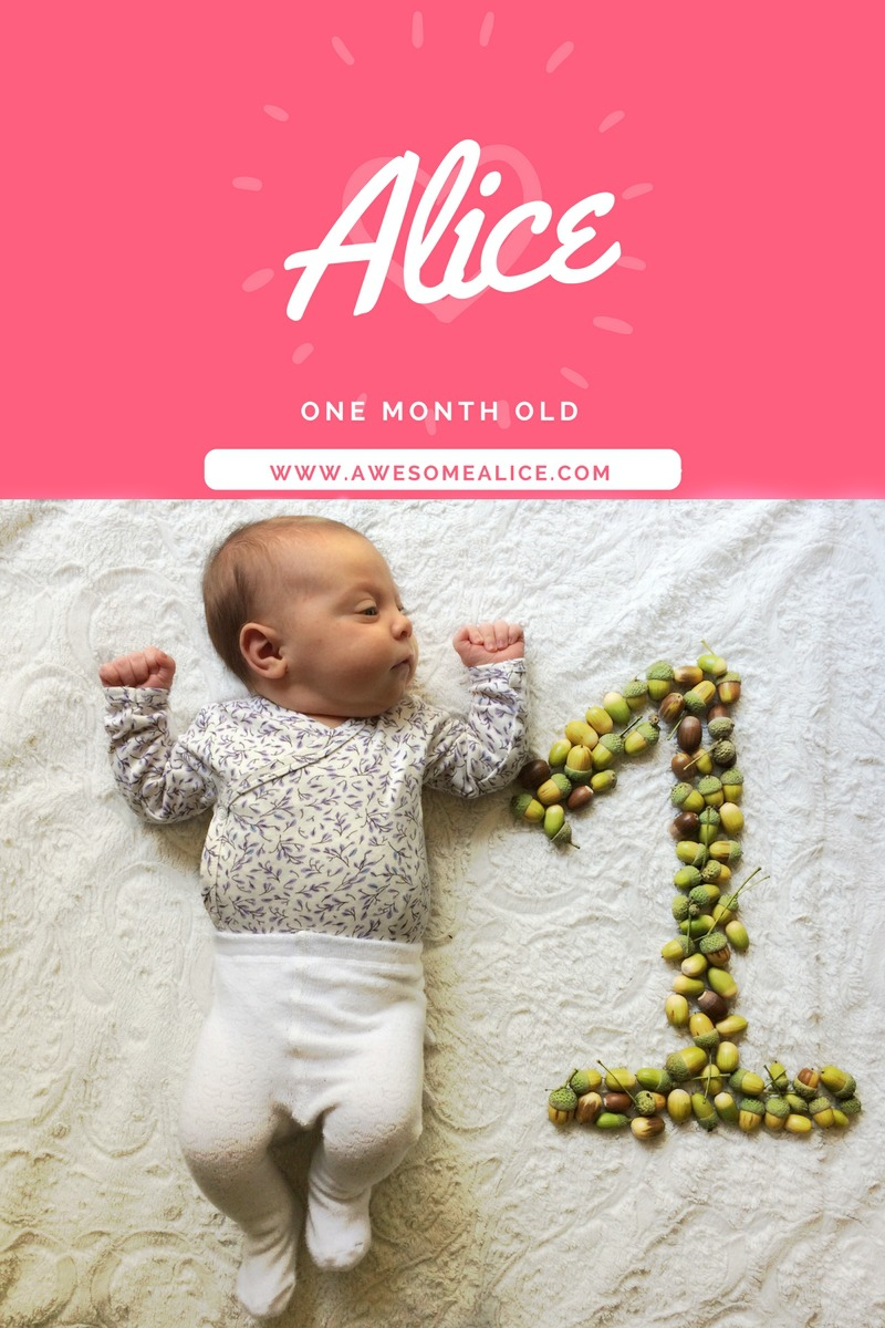 Life With A Baby – Alice One Month Old