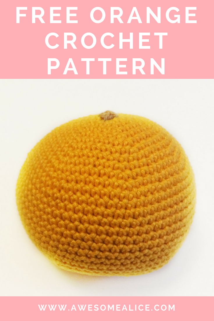 Free Crochet Pattern – Orange