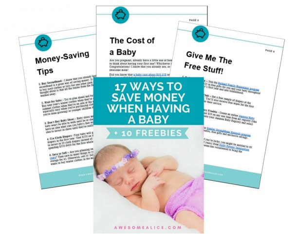 17 ways to save money when having a baby + 10 freebies