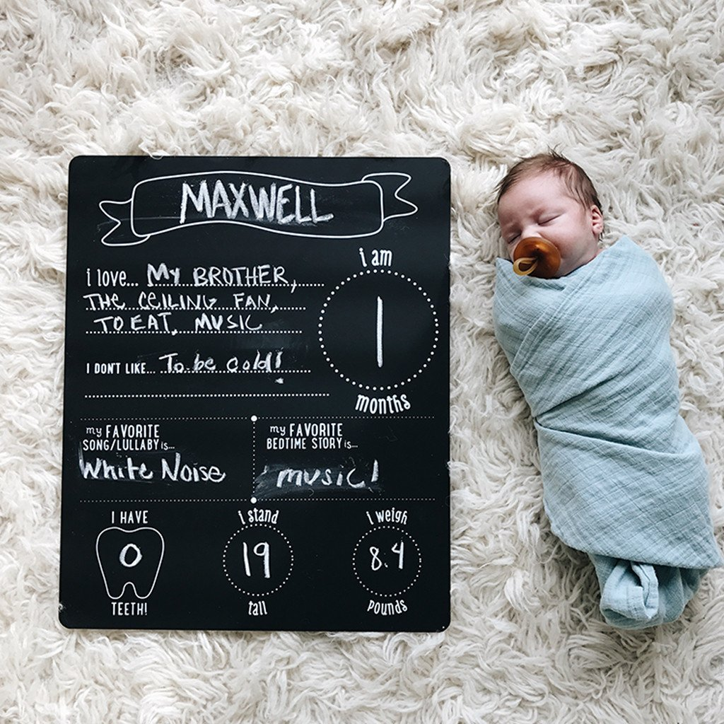 monthly all about baby chalkboard