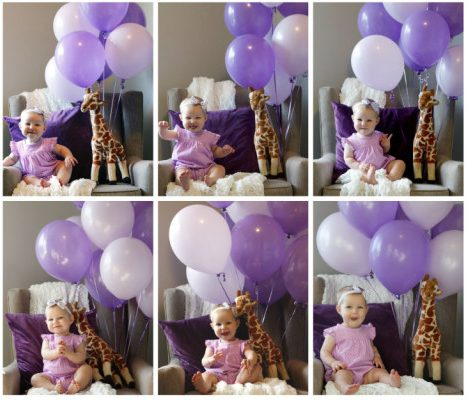 Monthly Baby Photos Balloons