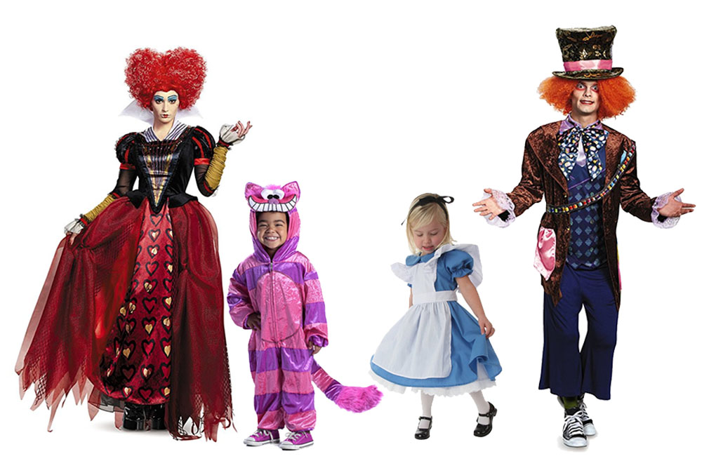 Fun And Unique Family Matching Costume Ideas Alice in Wonderland