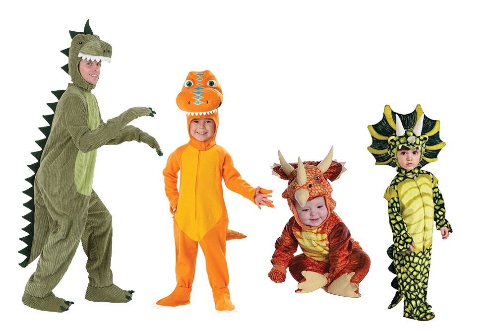 Fun And Unique Family Matching Costume Ideas Dinosaurs