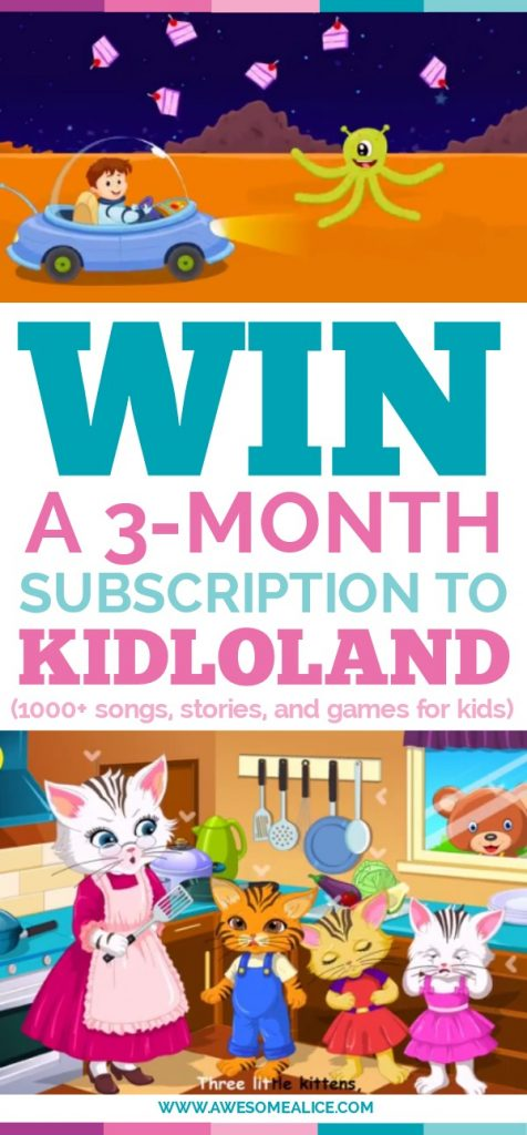 Win a subscription to Kidloland. The app offers 1000+ nursery Rhymes, Songs, Stories, Activities, Games for Kids. Enter the giveaway here!