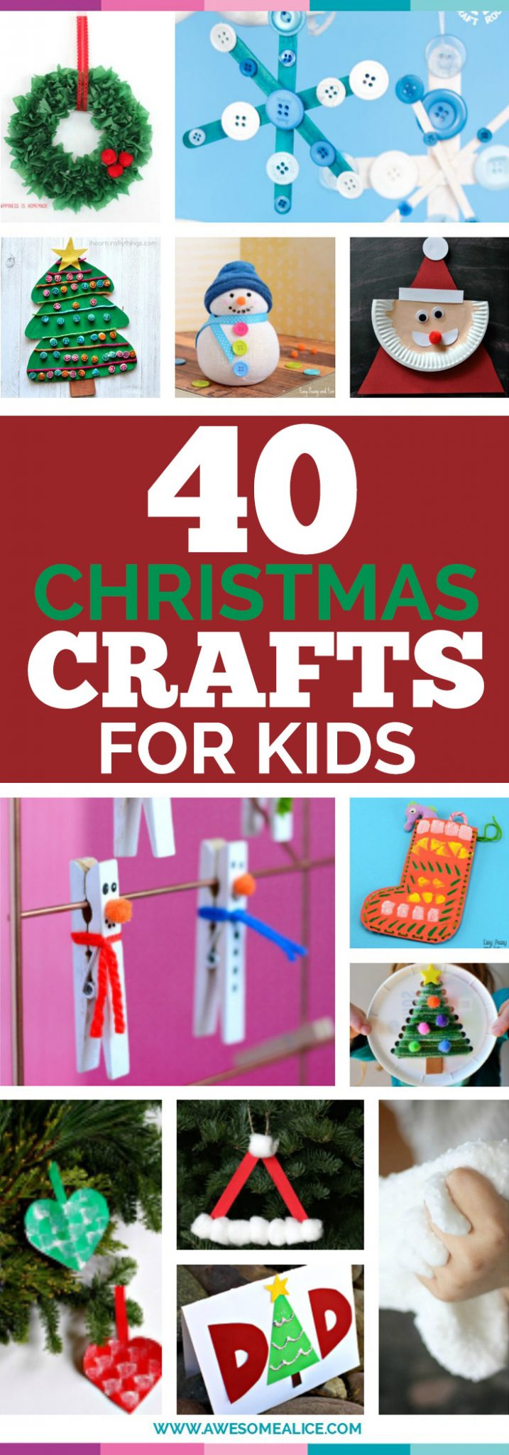 christmas crafts for kids top 40 easy and crafts for to make 29755