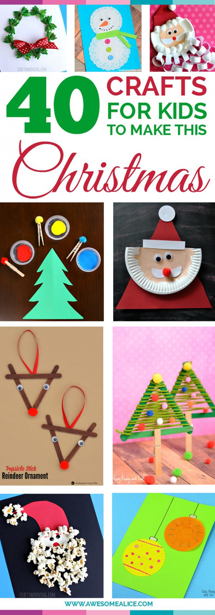 Top 40 Easy And Fun Christmas Crafts For Kids To Make