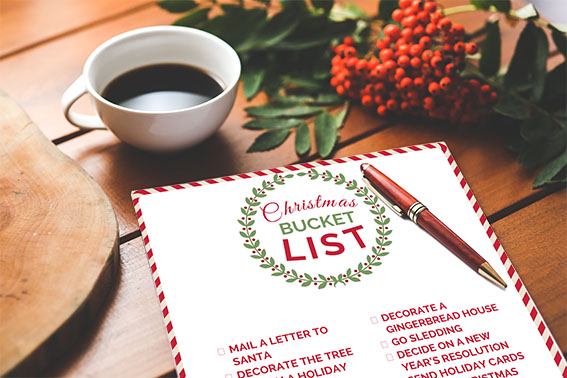 Christmas bucket list for kids! Download your copy now. www.awesomealice.com