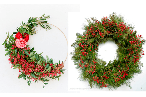 Make Any Of These Super Easy Fresh Christmas Wreaths In Minuteake A Statement With
