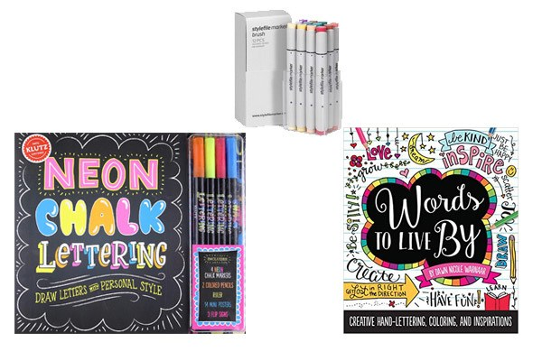 Lettering Gift Ideas for Creative Kids Who Love Art