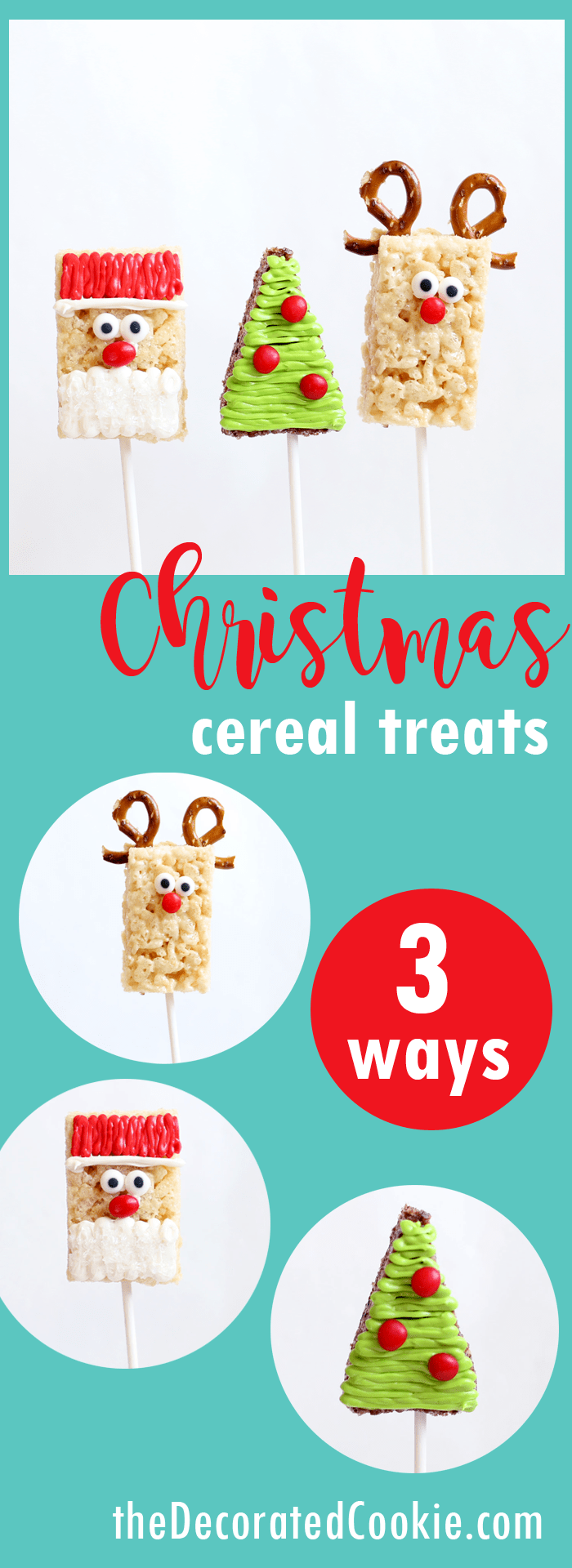 No Bake Christmas Treats Christmas Rice Krispie Treats 3 Ways