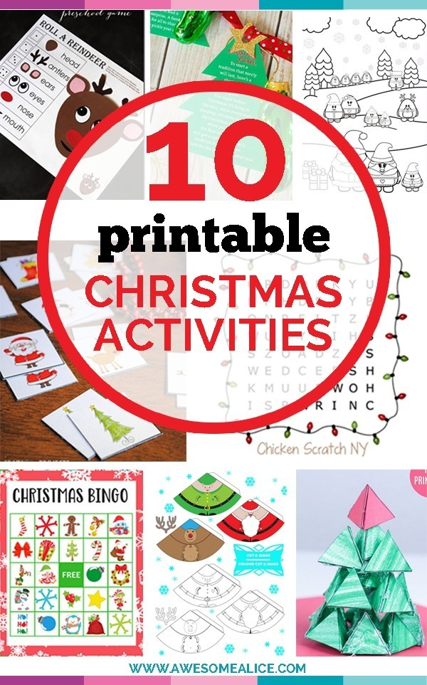 photo relating to Christmas Pickle Story Printable titled Ultimate 10 Absolutely free Xmas Printable Actions for Little ones