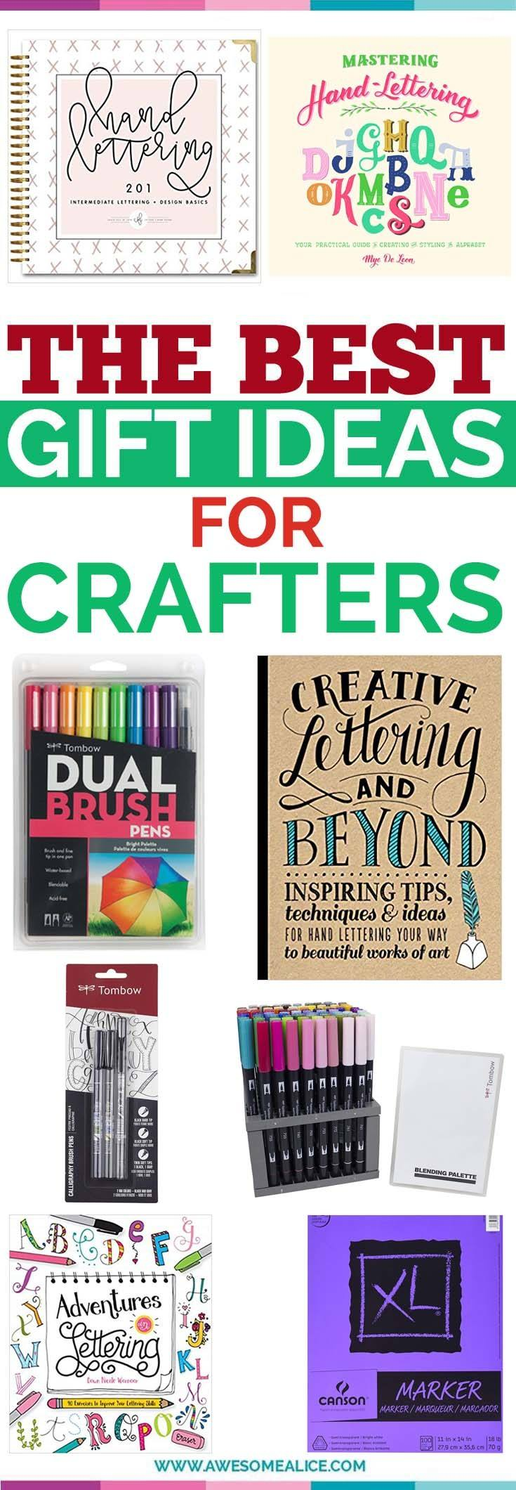 this hand lettered gift guide is perfect for anyone who loves lettering and calligraphy from