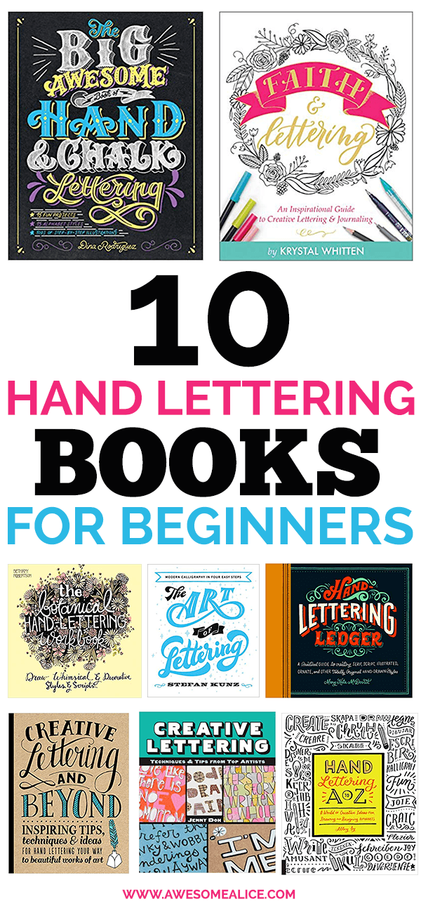 The Best Hand Lettering Books for Beginners | Awesome Alice