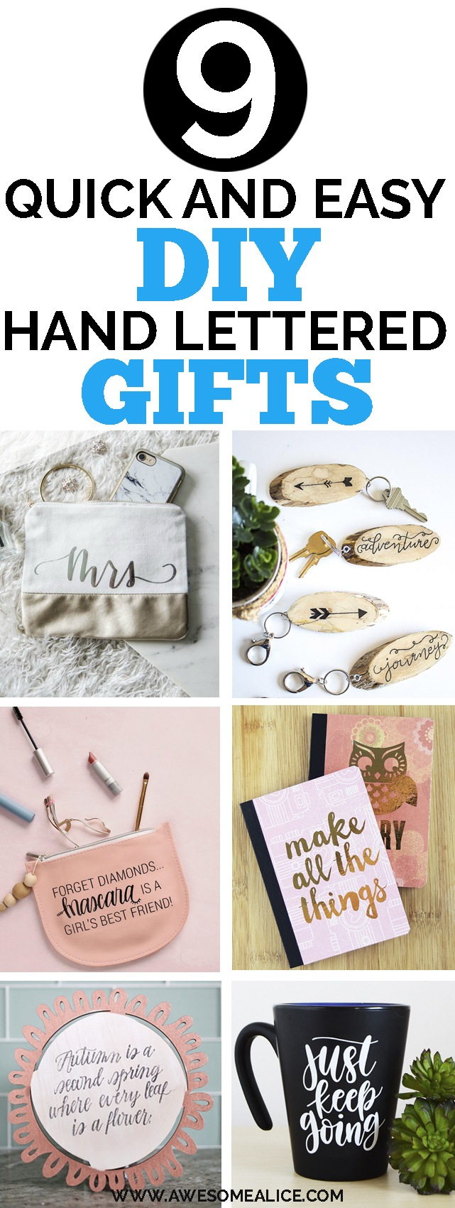 9 Quick And Easy Diy Hand Lettered Gift Ideas Awesome Alice