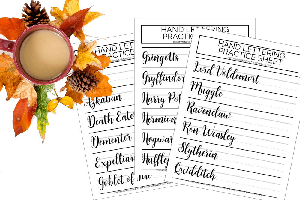 The Best 11 Hand Lettering Practice Sheets for Free