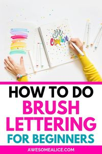 Click to learn the basic of brush lettering from scratch! This extensive hand lettering tutorial series will teach you modern calligraphy using brush pens and markers, indcluding basic strokes, practice sheets, and more! #brushlettering #calligraphy #handlettering L