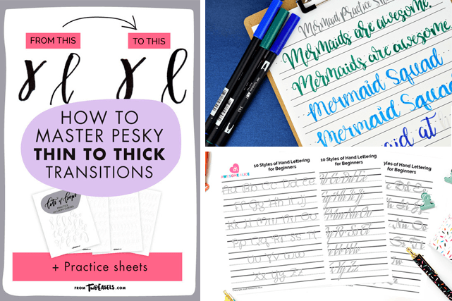 Learn How To Letter With These Free Hand Lettering Worksheets