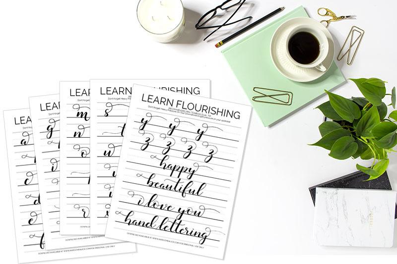 The Best Free Hand Lettering Alphabet Practice Sheets ...