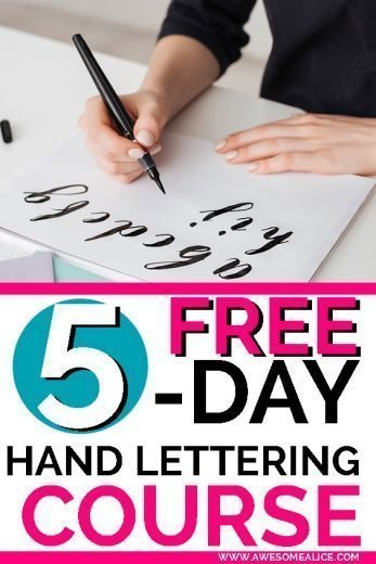 Learn how to handletter as a beginner with this FREE course! If you've been wanting to learn the art of modern calligraphy of handlettering, click here! | How To Handletter | Lettering Tips | Lettering Styles | Simple Brush Lettering | Lettering Tutorials | for Beginners | How To Hand Letter | #handlettering #brushlettering