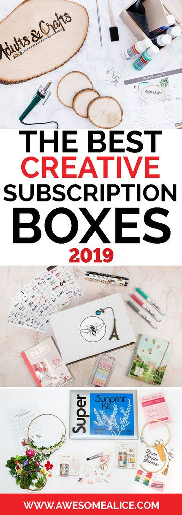 Top 10 Most Popular Creative Subscription Boxes Of 2019!