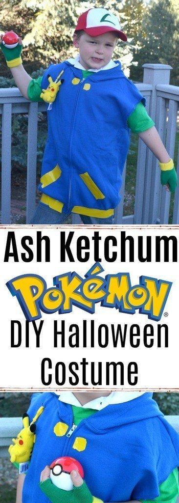 DIY Halloween Costumes for Kids - Ash Ketchum