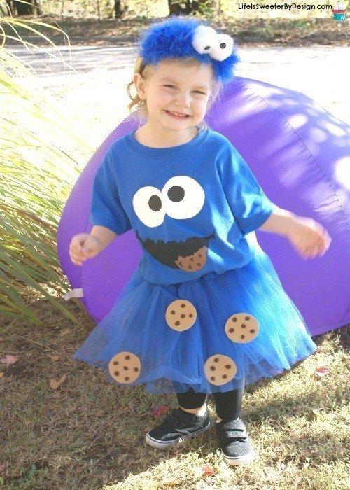 DIY Halloween Costumes for Kids - Cookie monster