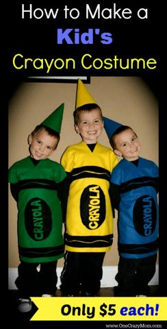 DIY Halloween Costumes for Kids - Crayola crayons