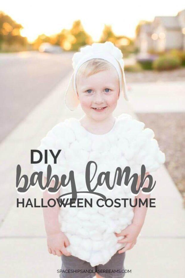 DIY Halloween Costumes for Kids - Lamb