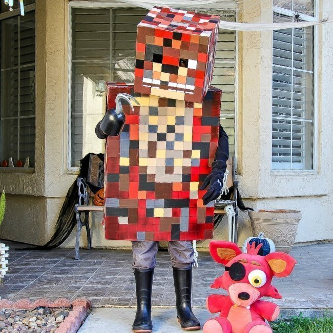 DIY Halloween Costumes for Kids - Minecraft foxy