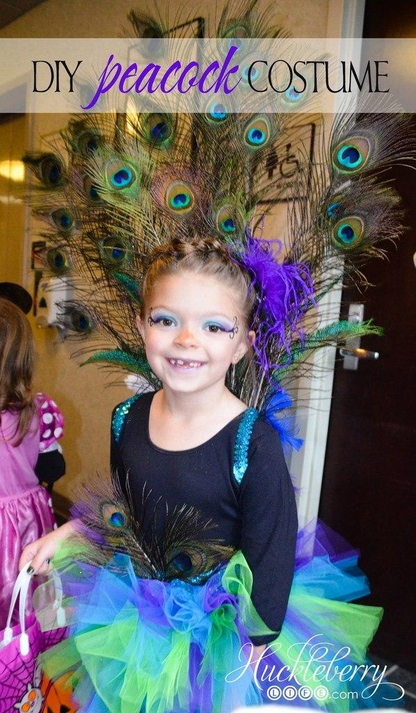 DIY Halloween Costumes for Kids - Peacock