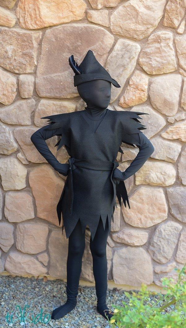 DIY Halloween Costumes for Kids - Peter Pan Shadow
