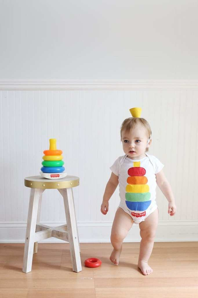 DIY Halloween Costumes for Kids - Stacking Toy