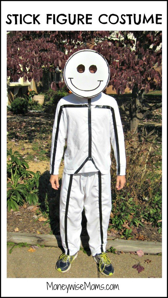 DIY Halloween Costumes for Kids - Stick figure