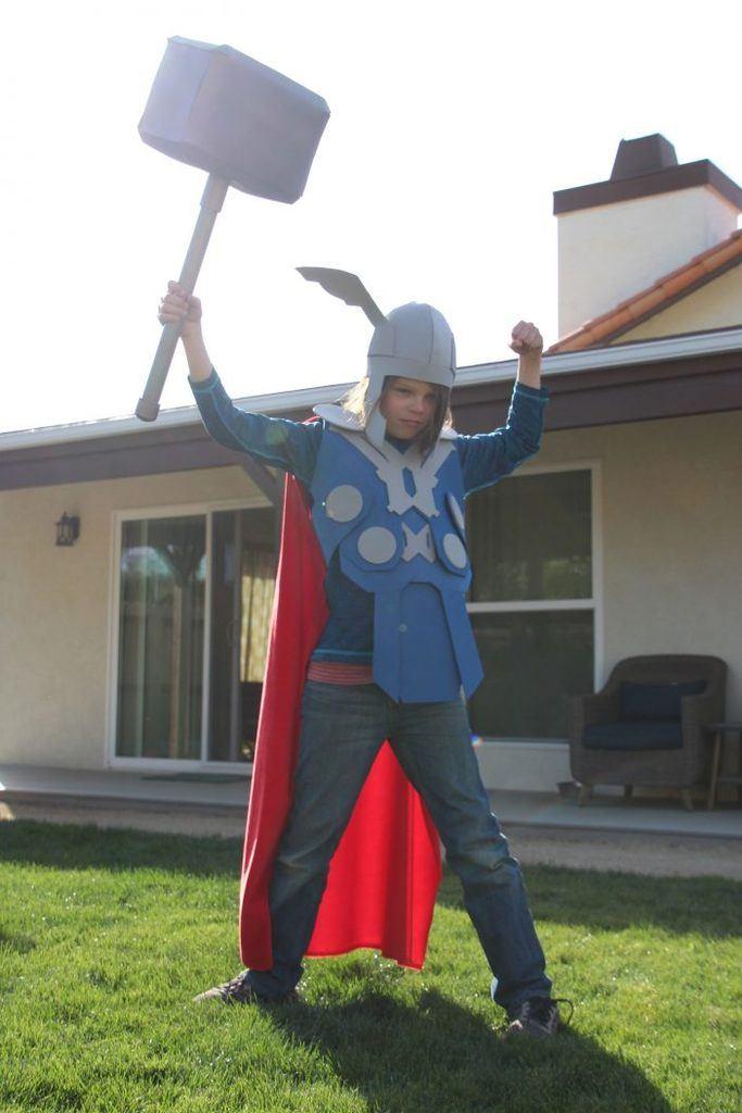 DIY Halloween Costumes for Kids - Thor