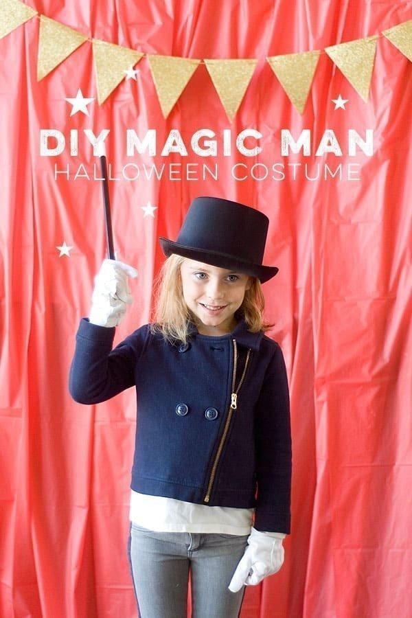 DIY Halloween Costumes for kids - Magic Man