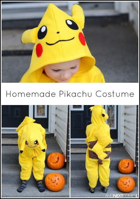 DIY Halloween Costumes for kids - Pikachu
