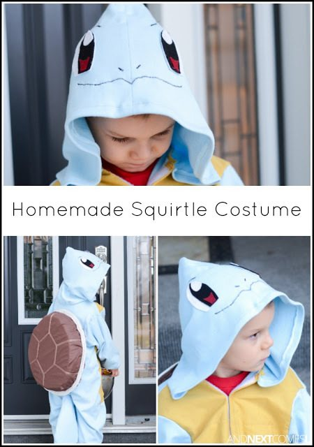 DIY Halloween Costumes for kids - Squirtle