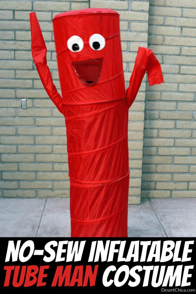 DIY Halloween Costumes for kids - Tube man