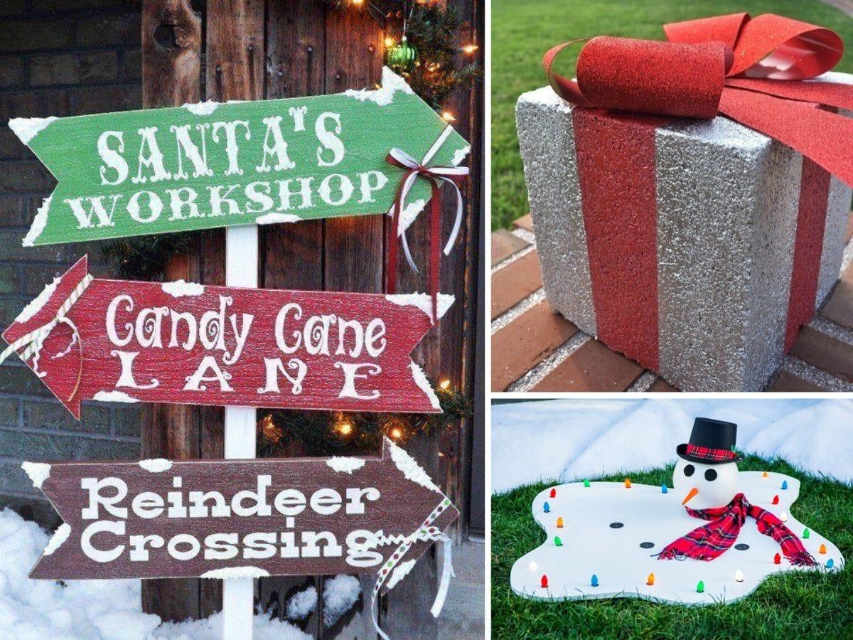 50 Best DIY Outdoor Christmas Decorations