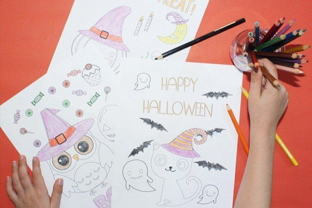 Free Printable Coloring Pages For Halloween | Awesome Alice
