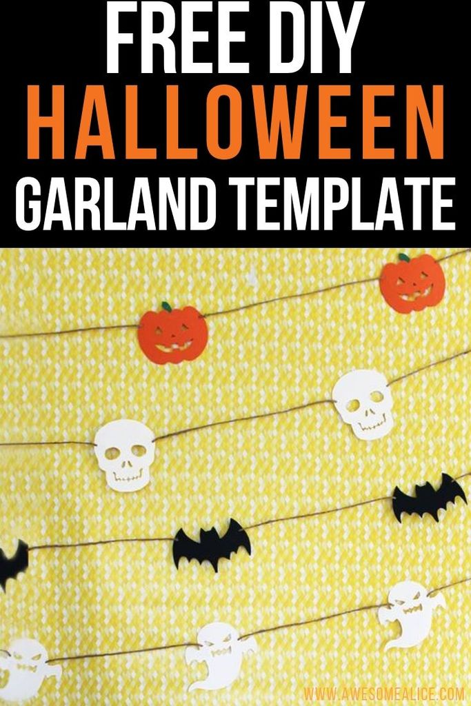Diy Paper Garlands For Your Halloween Decorations Awesome Alice