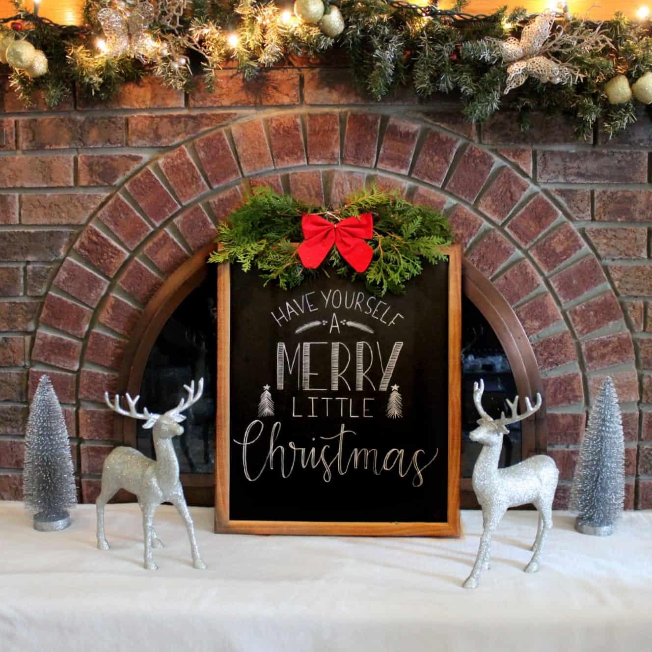 DIY Chalboard Sign Merry Christmas